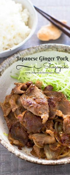 Shogayaki is Japanese ginger pork which is pork fried and cooked in soy sauce, mirin and ginger juice. Japanese people's favourite dish.