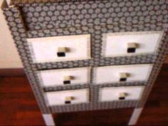 MUEBLE CON CAJAS ( 2ª PARTE ) Cardboard funiture - YouTube