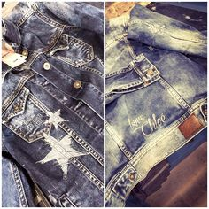 Customised denim jacket by Bárbara Crespo in our #PepeJeansCustomStudio