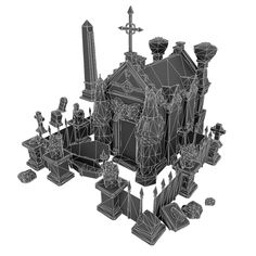 Get started on your new game prototype quickly with this low poly, hand painted cemetery starter set.