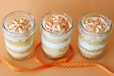 Orange dreamsicles in a jar