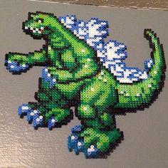 Godzilla perler beads by alyciazu