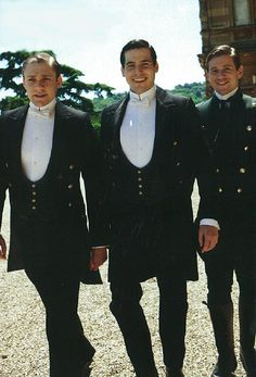 Downton Abbey: thomas, william, and branson: Rob James-Colier, Allen Leech, and Thomas Howes Branson Downton Abbey, Period Movies, Period Dramas, Rob James-collier, Julian Fellowes, Downton Abbey Fashion, Masterpiece Theater, Gentlemans Club, Actor