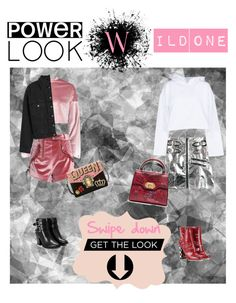 """""""Wild one #powerlook"""" by mullemullr on Polyvore featuring Boohoo, self-portrait, Golden Goose, Nasty Gal, Dolce&Gabbana, Topshop, girlpower and powerlook"""