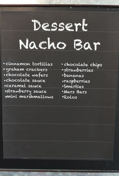 Nacho Bar Ideas - A Tasty Game Day Party Buffet - Moms & Munchkins Nacho Cheese Sauce, Chocolate Wafer Cookies, Chocolate Wafers, Party Food Bars, Bar Food, Parties Food, Party Desserts, Party Recipes, Cinco De Mayo