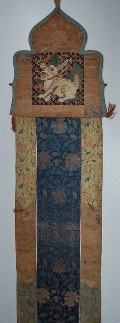 """Temple banner from Gyantse monastery (?) .....obtained in 1904... on the Younghusband expedition.""See: http://tibet.prm.ox.ac.uk/"