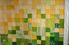 green yellow quilt - Google Search
