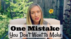 Mistakes, How To Make