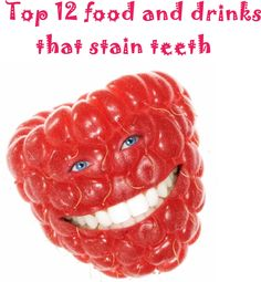 Top 12 food and drinks that stain teeth | Natural Beauty
