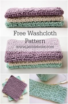Crochet Gift Patterns My Favourite Crochet Washcloth - Leelee Knits - These stunning crochet dishcloth pattern free patterns. All of these crochet dishcloth pattern are amazing and very easy to crochet. Crochet Home, Knit Or Crochet, Crochet Gifts, Free Crochet, Washcloth Crochet, Knitted Washcloth Patterns, Crotchet, Single Crochet, Knitted Washcloths