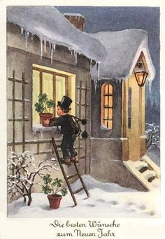 Chimney Sweep, New Year 2020, Nouvel An, Christmas Greetings, Unique Recipes, Happy New Year, House Styles, Painting, Advent