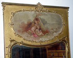 Scene with painted cherubs on mirror!♥