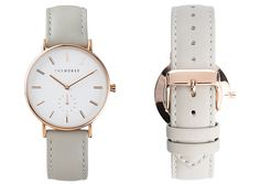 Rose Gold / Grey Leather | The Horse