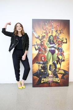"Marvel Agents of S.H.I.E.L.D. actress Chloe Bennet celebrates ""Women of Power"" with Marvel Contest of Champions mobile game on March 22, 2016 in Los Angeles, California."