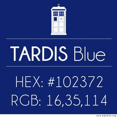 Tardis Blue numbers/coordinates | Doctor Who