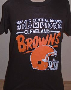 6298473c4 vintage 1980s Cleveland Browns NFL football t shirt size Small by  vintagerhino247 on Etsy Cleveland Browns