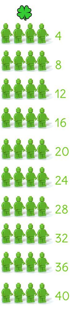 Tafel van 4 leren met LEGO