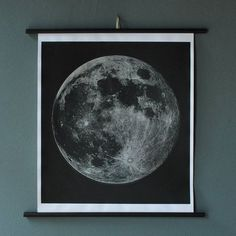 Fancy - Moon Chart Print Signed by AGC916
