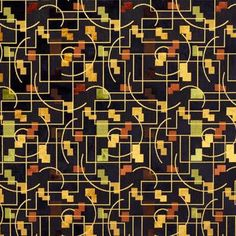 modernist art deco geometry textile/upholstery fabric