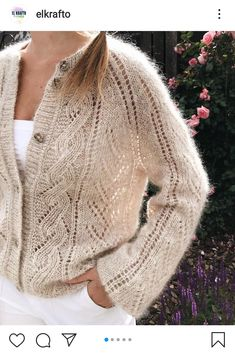 Baby Boy Knitting Patterns, Knitting Designs, Crochet Jacket, Knit Crochet, Knitted Squares Pattern, Fall Sweaters For Women, Knitted Jackets Women, Scarf Knots, Vogue Knitting