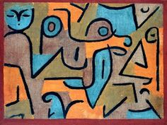 "Paul Klee (1879–1940), Young Moe, 1938. Gouache on newspaper mounted on burlap, 53.0 x 70.8 cm (20 7/8"" x 27 7/8""). The Phillips Collection,..."