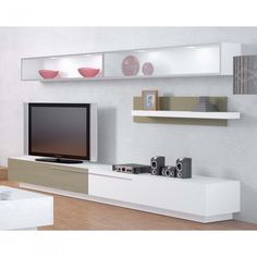 meuble tv design verone bicolore une exclu atylia - Meuble Tv Living Blanc Laque For You