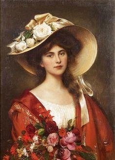 Portrait of a Young Woman ~ Albert Lynch ~ (Peruvian: 1851-1912)