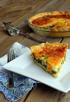 Spinach Quiche w/ Cornmeal Crust (what I want for breakfast) via @Rachel Cooks | Rachel Gurk