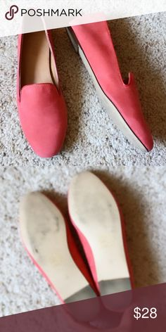 J.Crew Cleo Suede Loafer Coral J.Crew Cleo Suede Loafer in coral color. Made in Italy. Size 6.5, Gentle Worn and in Excellent condition! Regularly $150. Leather Upper and Leather Lining J. Crew Shoes Flats & Loafers