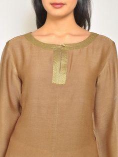 Brown-Gold Chanderi Tunic