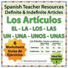 Spanish 1 Worksheets - Definite and Indefinite Articles in