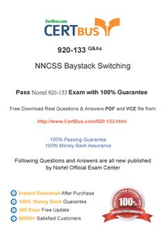 Candidate need to purchase the latest Nortel 920-133 Dumps with latest Nortel 920-133 Exam Questions. Here is a suggestion for you: Here you can find the latest Nortel 920-133 New Questions in their Nortel 920-133 PDF, Nortel 920-133 VCE and Nortel 920-133 braindumps. Their Nortel 920-133 exam dumps are with the latest Nortel 920-133 exam question. With Nortel 920-133 pdf dumps, you will be successful. Highly recommend this Nortel 920-133 Practice Test.
