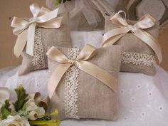 Lavender Bags, Lavender Sachets, Wedding Favor Bags, Wedding Gifts, Confetti Bags, Scented Sachets, Burlap Crafts, Shabby Chic Style, Engagement Gifts