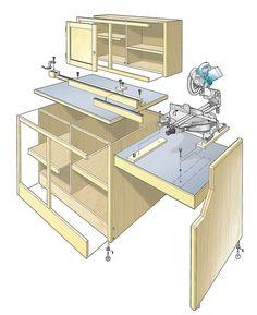 Miter Saw Workcenter Woodworking Plan
