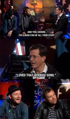 Damon Albarn on the Colbert Report... Haha!