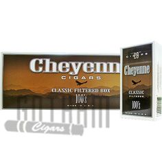 Cheyenne Filtered Classic Light 100 cigars give you the classic taste and feel of traditional cigars, without you having to spend a fortune! These petite cigars measure 3 ⅞ inches in length and have a ring gauge of 20. The filler is blended from American grown pipe tobacco that is of premium quality. This domestic tobacco gives you a rich and flavorful smoke every single time. #cheyenne #classic #light #filteredcigars