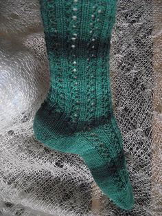 Ravelry: Toe-up Lacy Twist Socks pattern by Tricots et créations Isabelle
