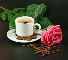 Rose Images, Rose Photos, Tea Cafe, Montage Photo, Good Morning Gif, Coffee Time, Tableware, Ethnic Recipes, Lovers