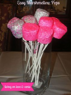 These Easy Marshmallow Pops are super easy and fun! I did these for my daughter's Justin Bieber party. These can be made with any colors so they would be a hit on any occasion. The kids can do these because they are so easy! You need: Marshmallows Kabob sticks or cake pop sticks (found in …
