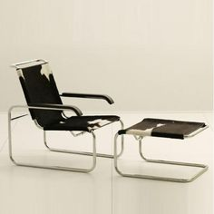 S 35 designed by Marcel Breuer - still in production by THONET. Find all other century design classics at Bauhaus Furniture, My Furniture, Handmade Furniture, Furniture Design, Leather Furniture, Marcel Breuer, Canapé Design, Chair Design, Design Bauhaus