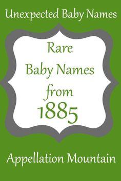 Rare 1885 Baby Names