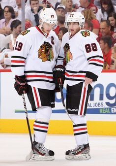 Kane and Toews. Awwwh. I just realized that I have the same skates as them...