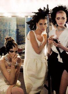 ~ Heidi Mount, Angela Lindvall & Jessica Stam by Karl Lagerfeld for Harper's Bazaar US