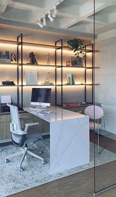 Modelos de Escritório Home-Office 2019 – Modern Corporate Office Design Interior Design Trends, Office Interior Design, Home Office Decor, Office Interiors, Home Decor, Office Furniture, Furniture Ideas, Design Offices, Interior Livingroom