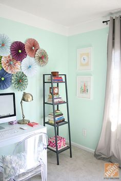 How To Create A Painted Faux Crown Moulding: After The Room Makeover (icy  Mint By Valspar)