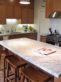 Gale Melton Design's Design Ideas, Pictures, Remodel, and Decor  Countertop  White counter with wood cabinets