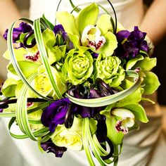 cymbidium orchids galore.  Ellen Kim from Gingerleaf Floral