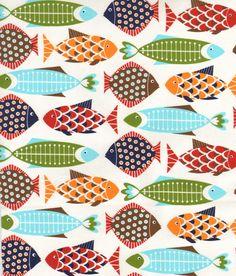 Multi Fish Fabric   Fabric Rehab