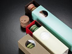 Macaron boxes!  Better price than I've seen elsewhere, and cuter!  Big River Packaging