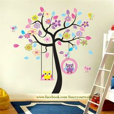 Stunning Wondering how to make your nursery room look fabulous Stick this magnificent tree on your